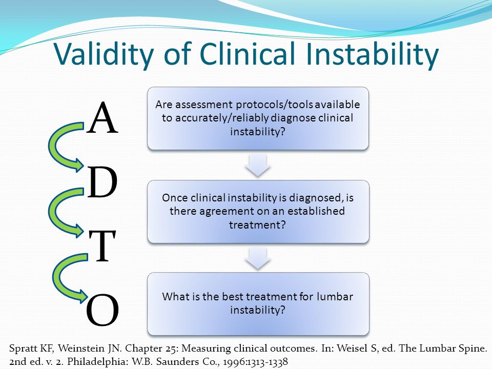 Validity of Clinical Instability