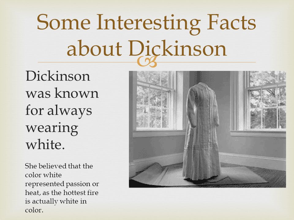 Some Interesting Facts about Dickinson