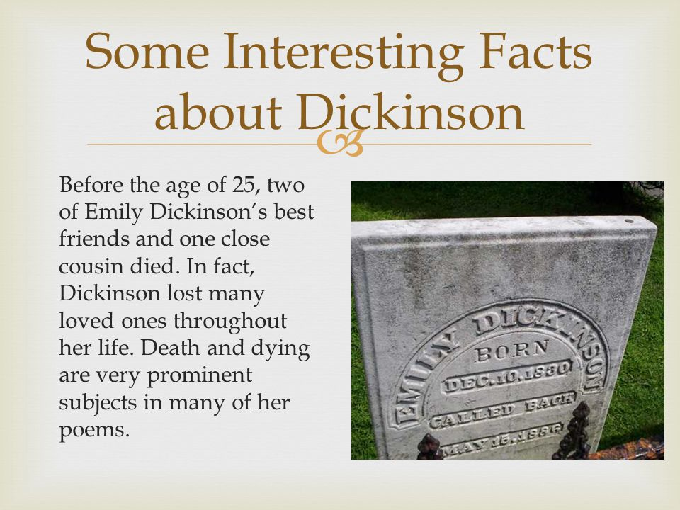 Emily dickinson expounds on the subject of life and death