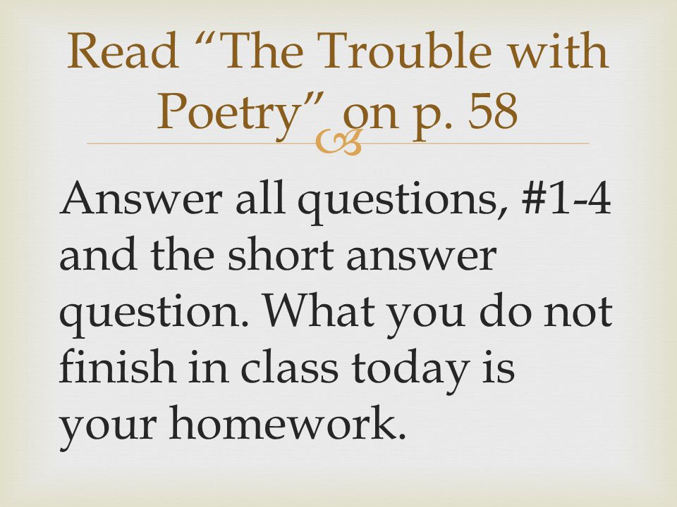 Read The Trouble with Poetry on p. 58
