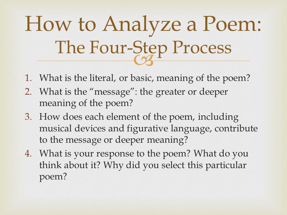 How to Analyze a Poem: The Four-Step Process
