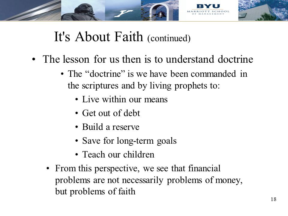 It s About Faith (continued)