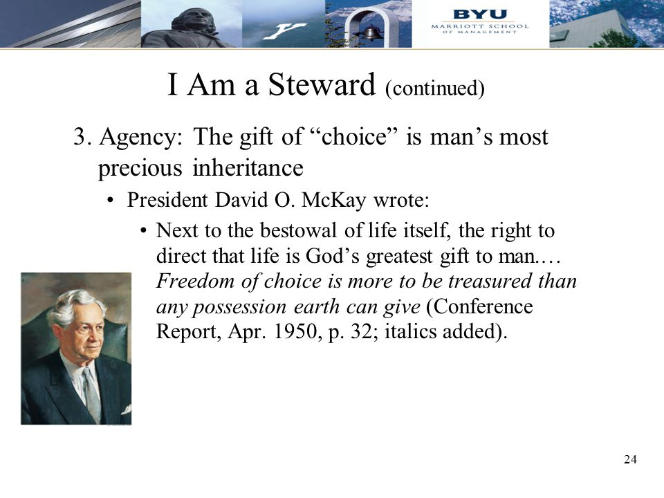 I Am a Steward (continued)
