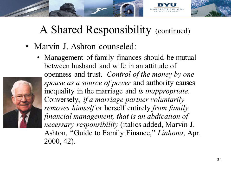 A Shared Responsibility (continued)