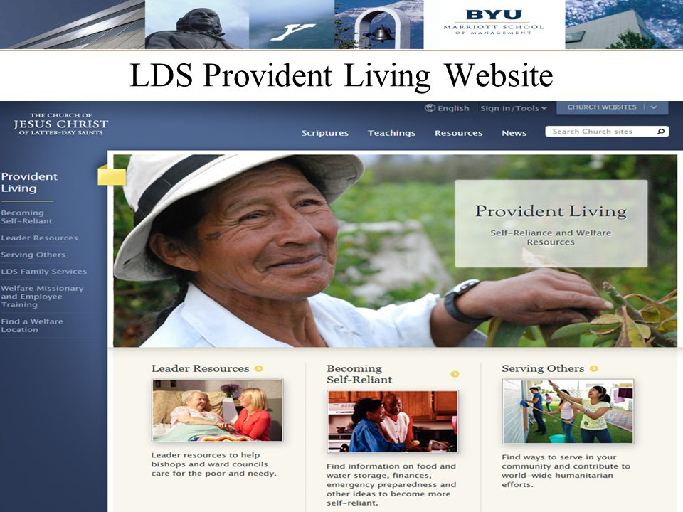 LDS Provident Living Website