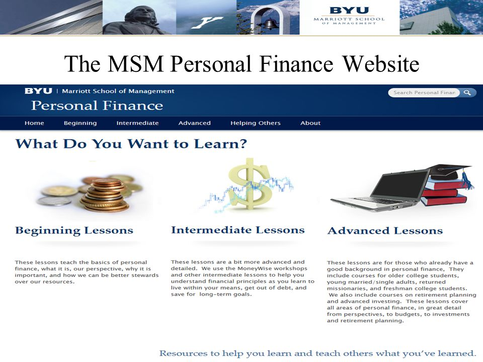 The MSM Personal Finance Website