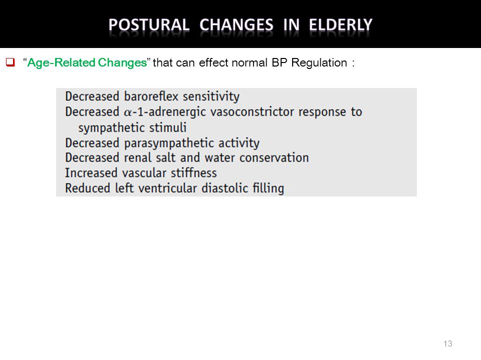 Postural Changes in Elderly