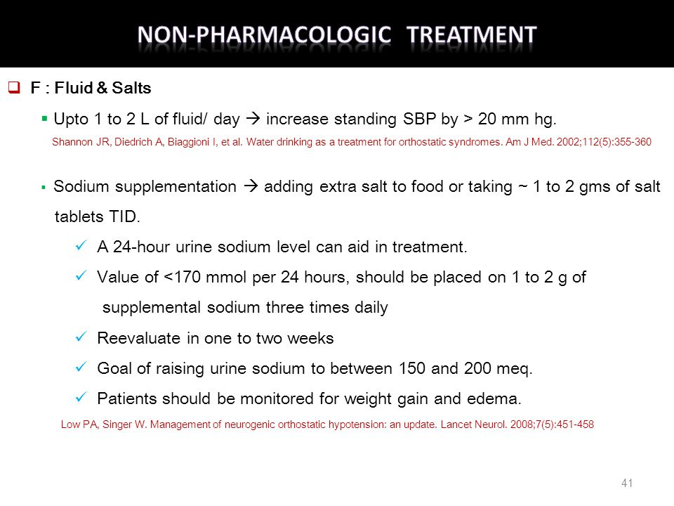 Non-Pharmacologic Treatment