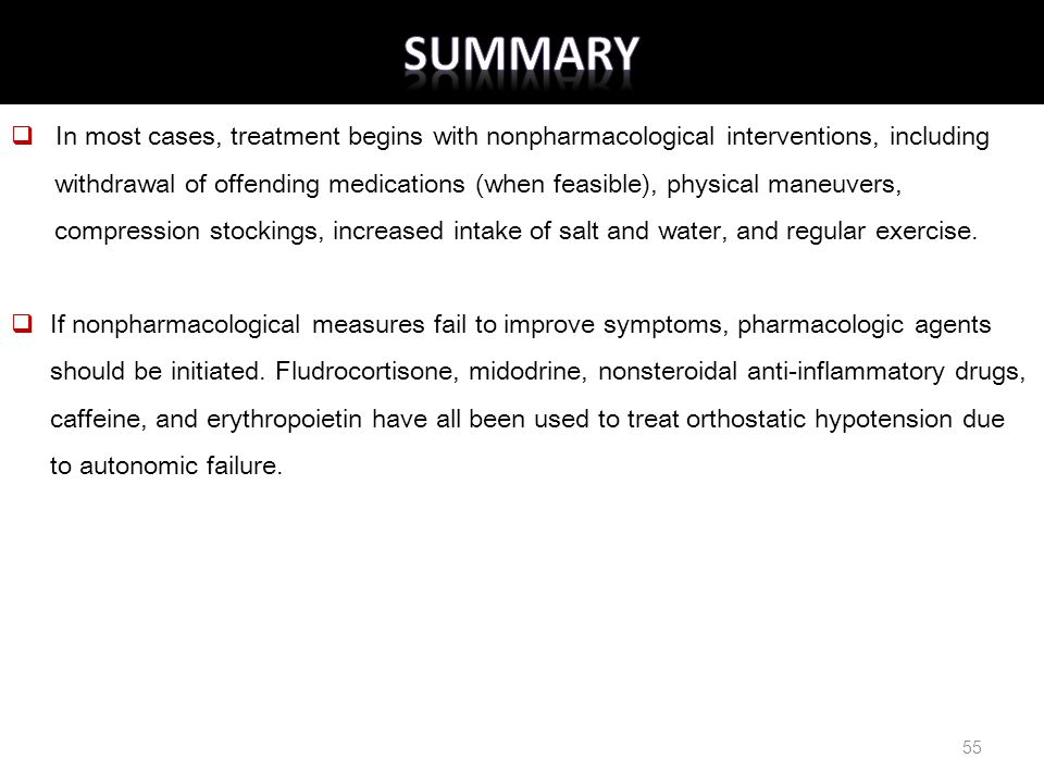 SUMMARY In most cases, treatment begins with nonpharmacological interventions, including.