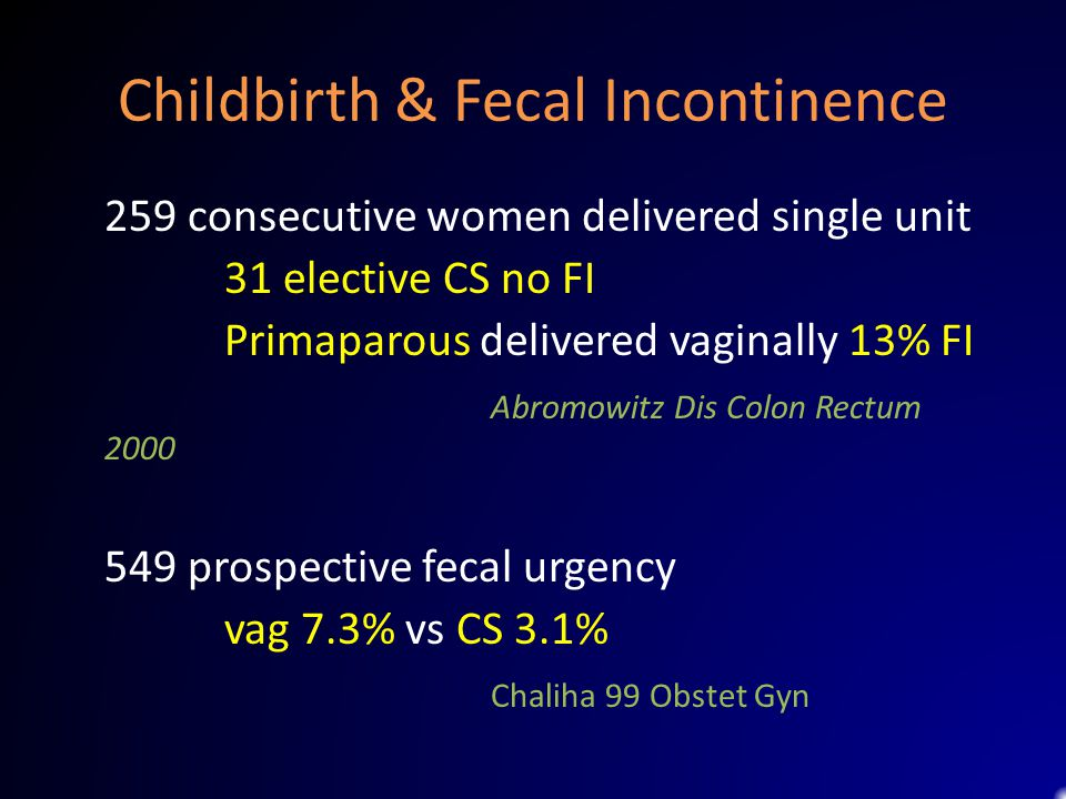 Childbirth & Fecal Incontinence