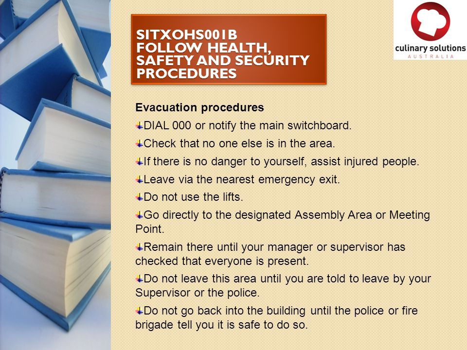 health and safety and security in