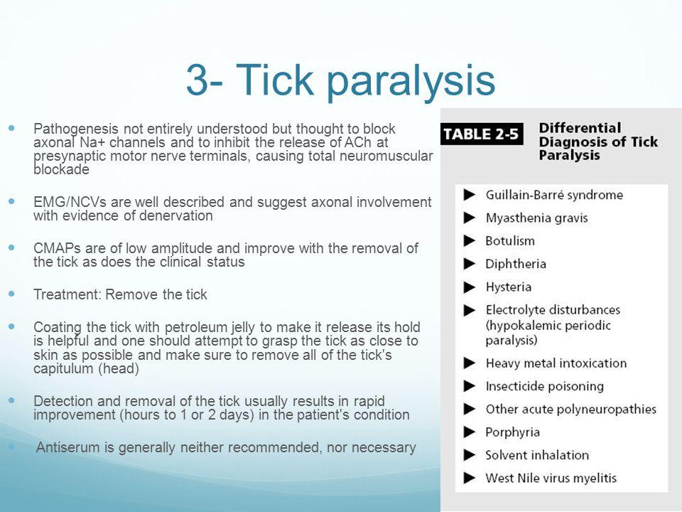 3- Tick paralysis