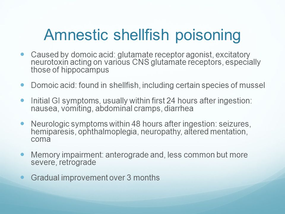 Amnestic shellfish poisoning
