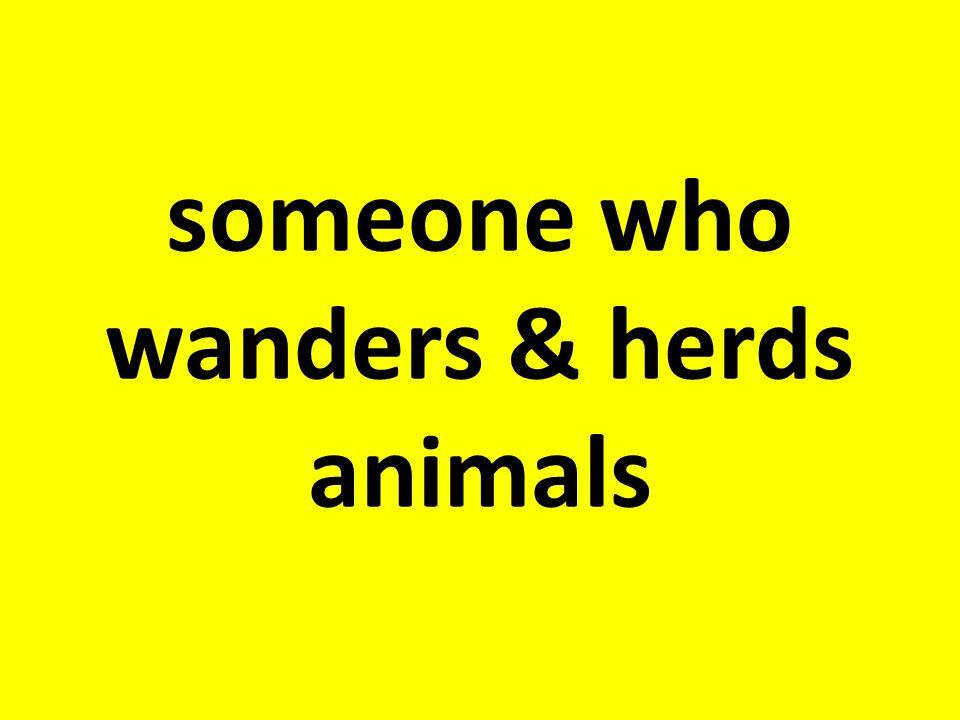 someone who wanders & herds animals