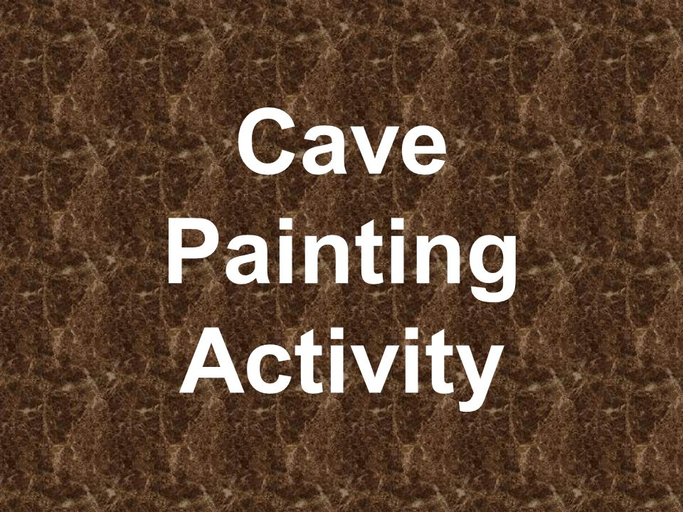 Cave Painting Activity