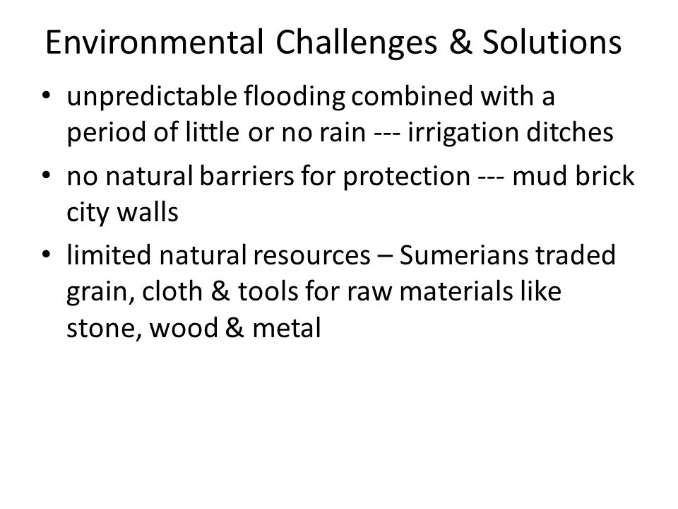 Environmental Challenges & Solutions