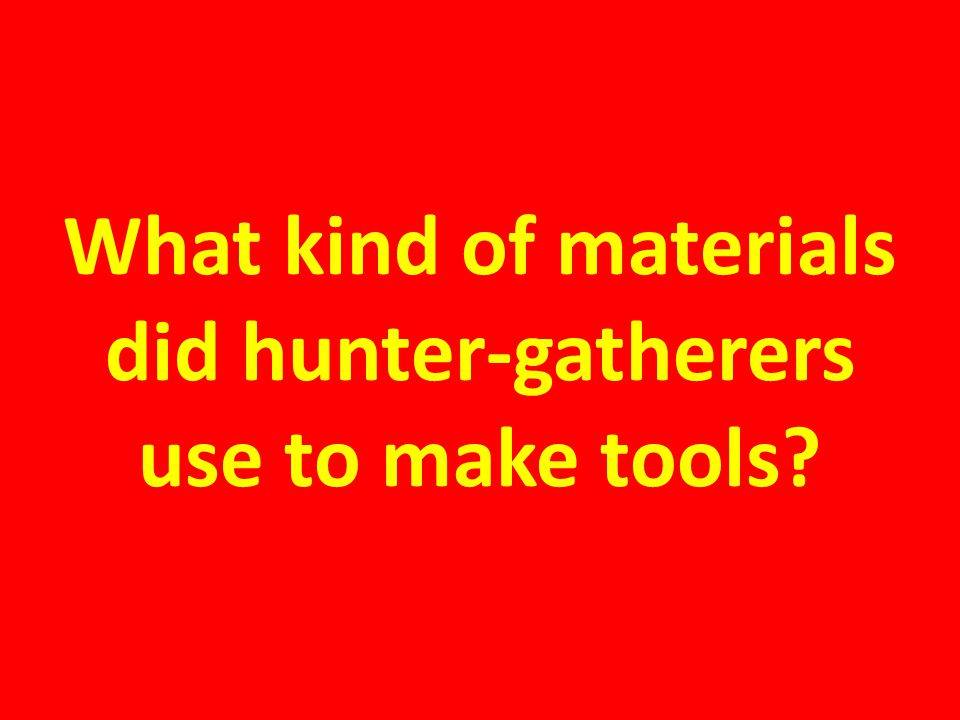 What kind of materials did hunter-gatherers use to make tools