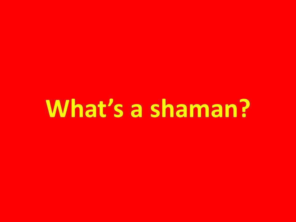 What's a shaman