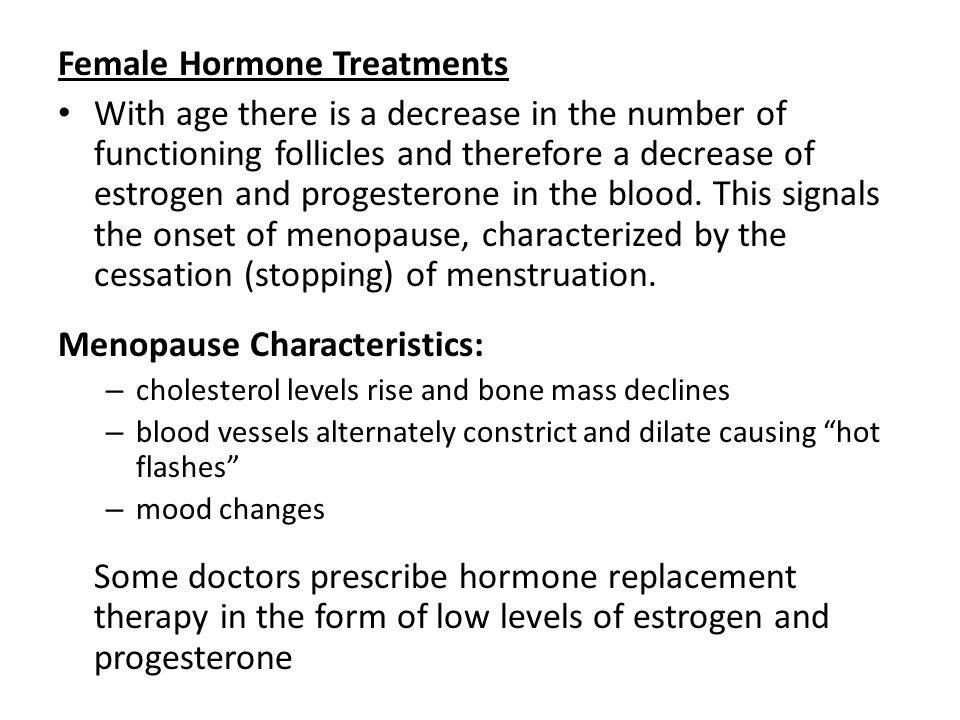 Female Hormone Treatments