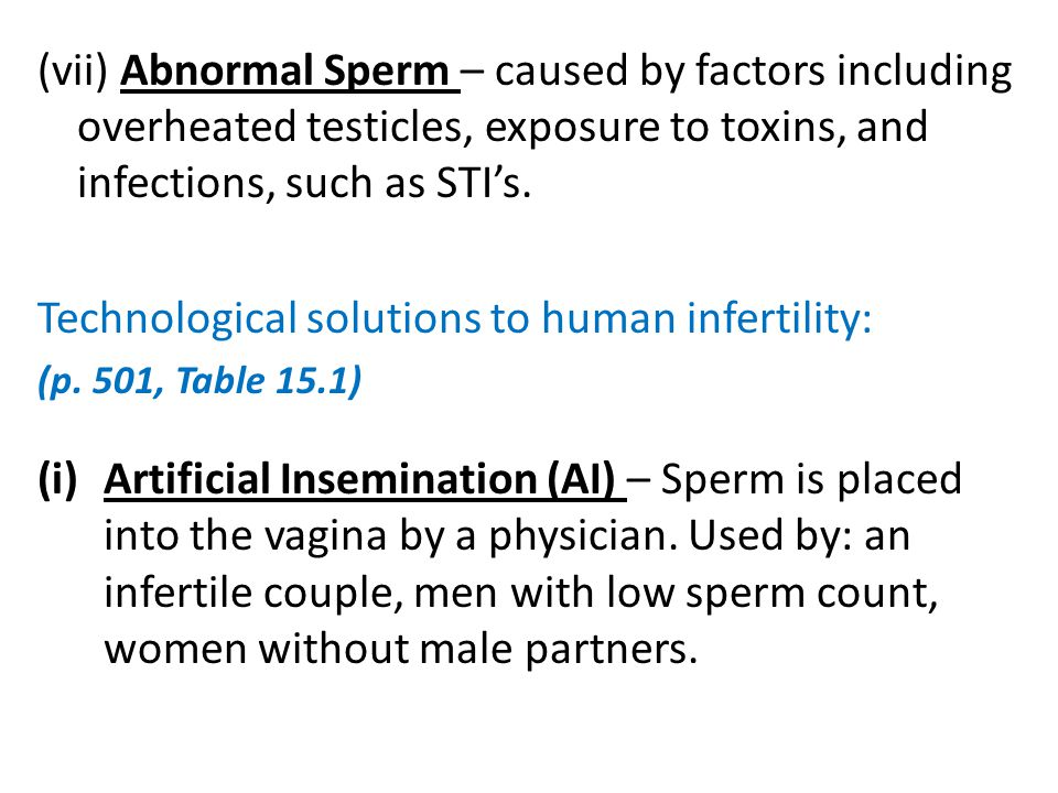 Technological solutions to human infertility: