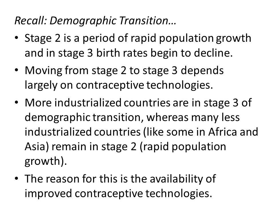 Recall: Demographic Transition…