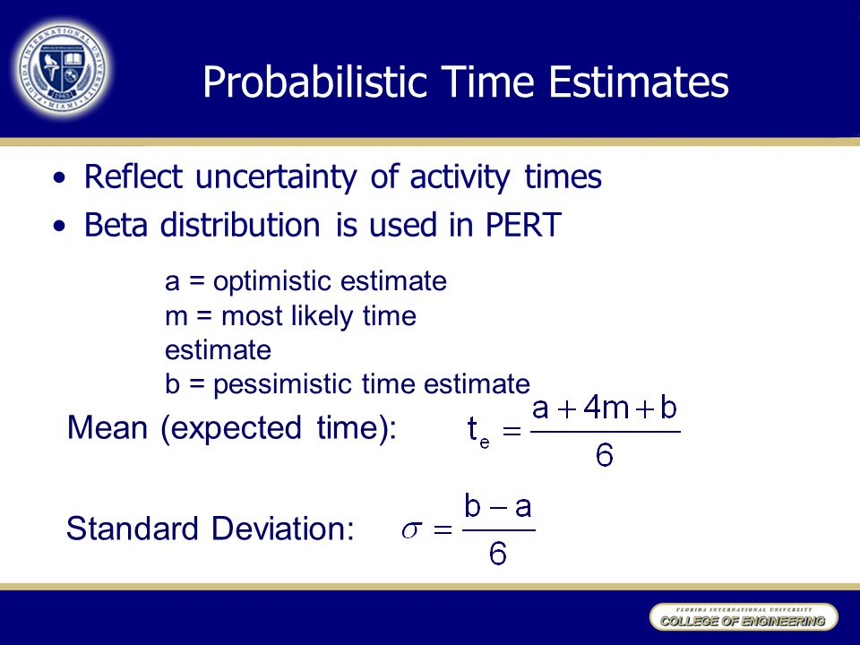 Probabilistic Time Estimates