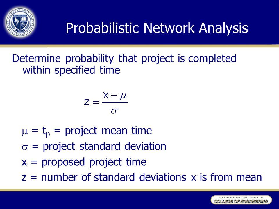 Probabilistic Network Analysis