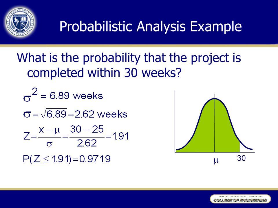 Probabilistic Analysis Example