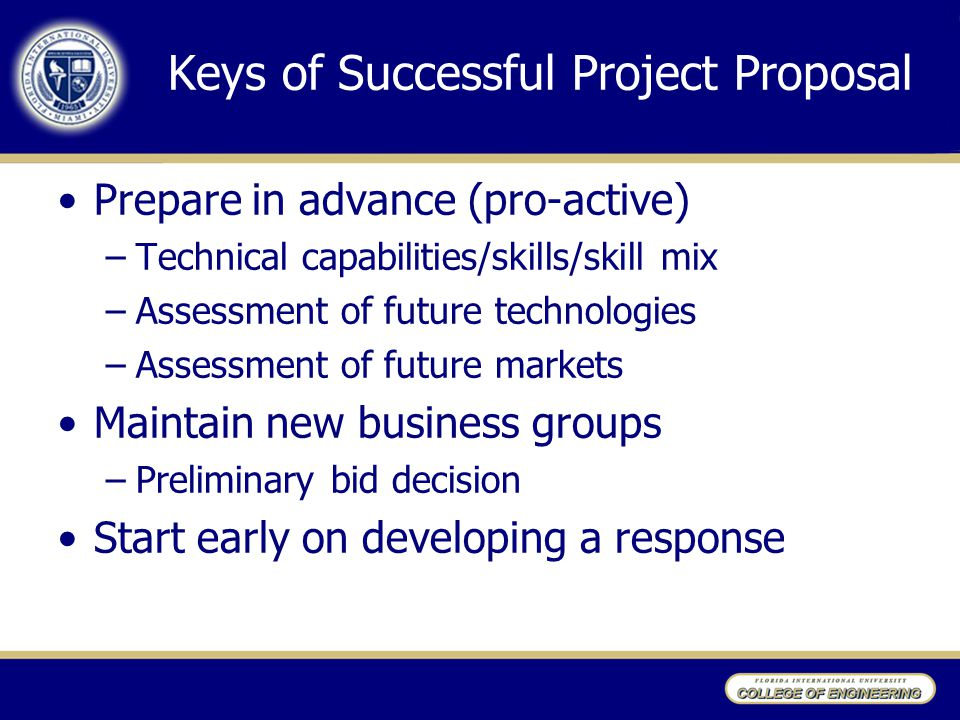 Keys of Successful Project Proposal