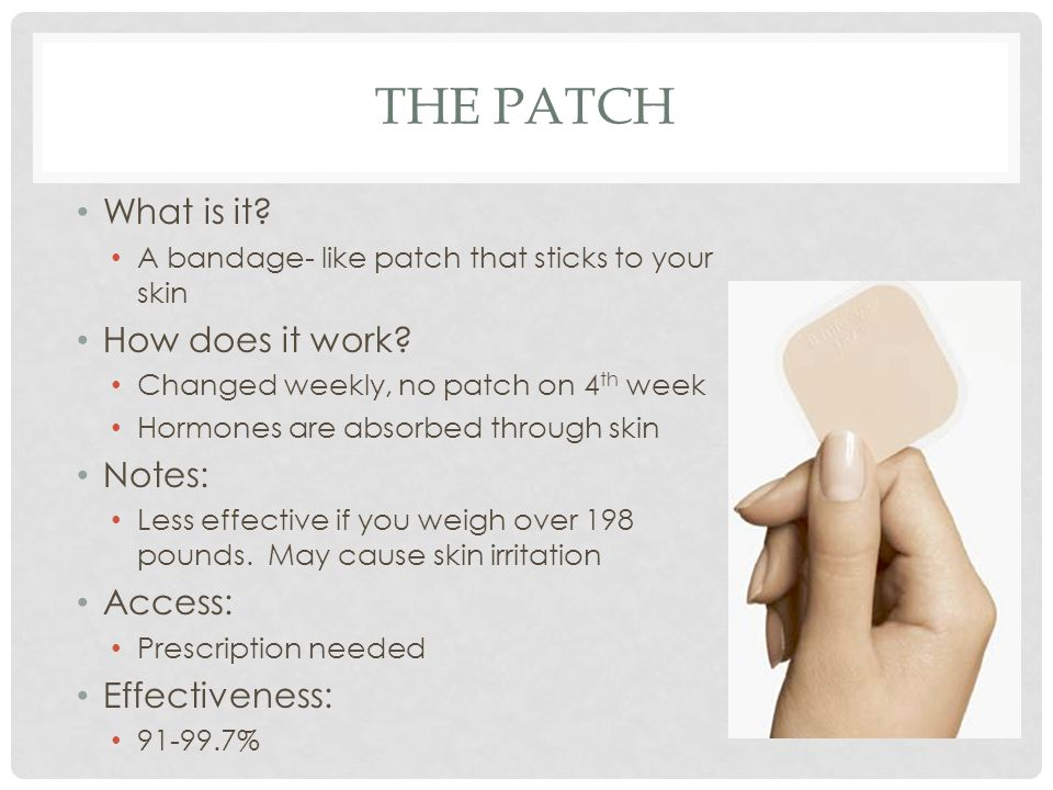 The patch What is it How does it work Notes: Access: Effectiveness: