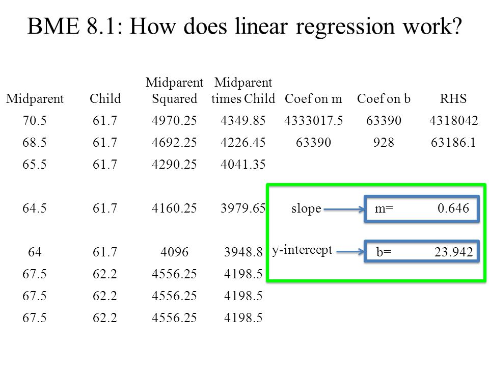 BME 8.1: How does linear regression work