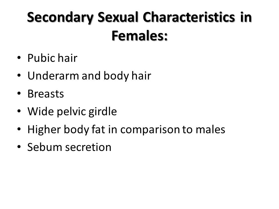 Secondary Sexual Characteristics in Females: