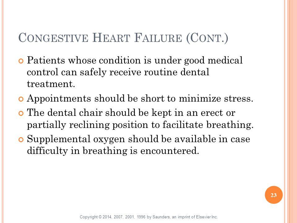 Congestive Heart Failure (Cont.)