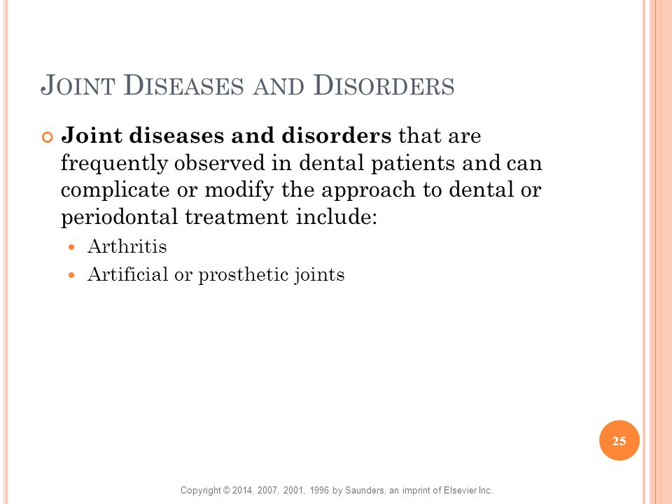 Joint Diseases and Disorders