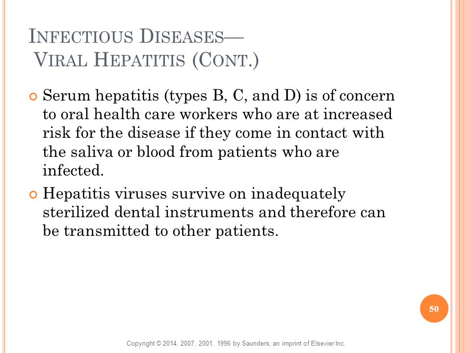 Infectious Diseases— Viral Hepatitis (Cont.)