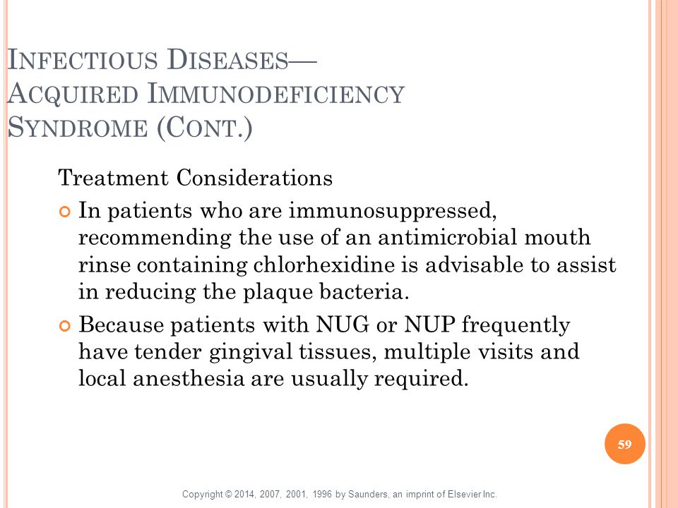 Infectious Diseases— Acquired Immunodeficiency Syndrome (Cont.)