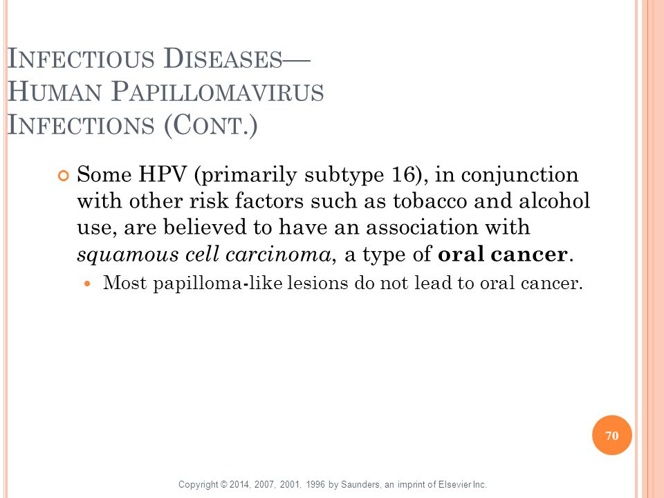 Infectious Diseases— Human Papillomavirus Infections (Cont.)