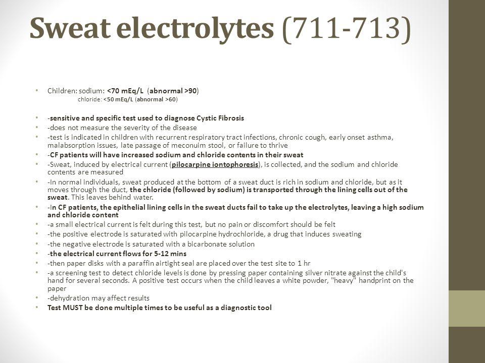 Sweat electrolytes (711-713)