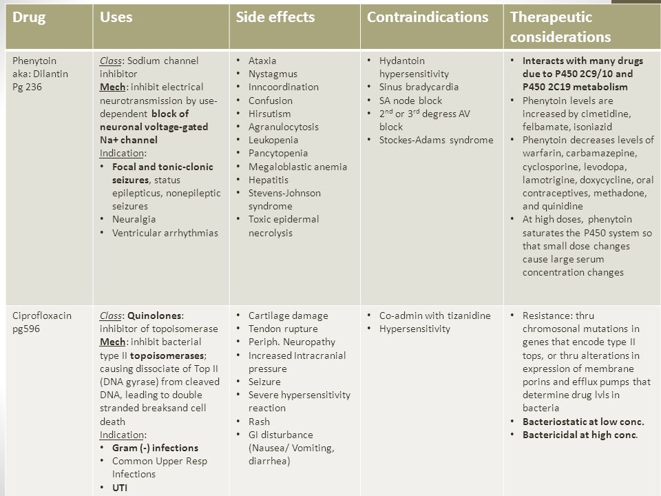 Therapeutic considerations