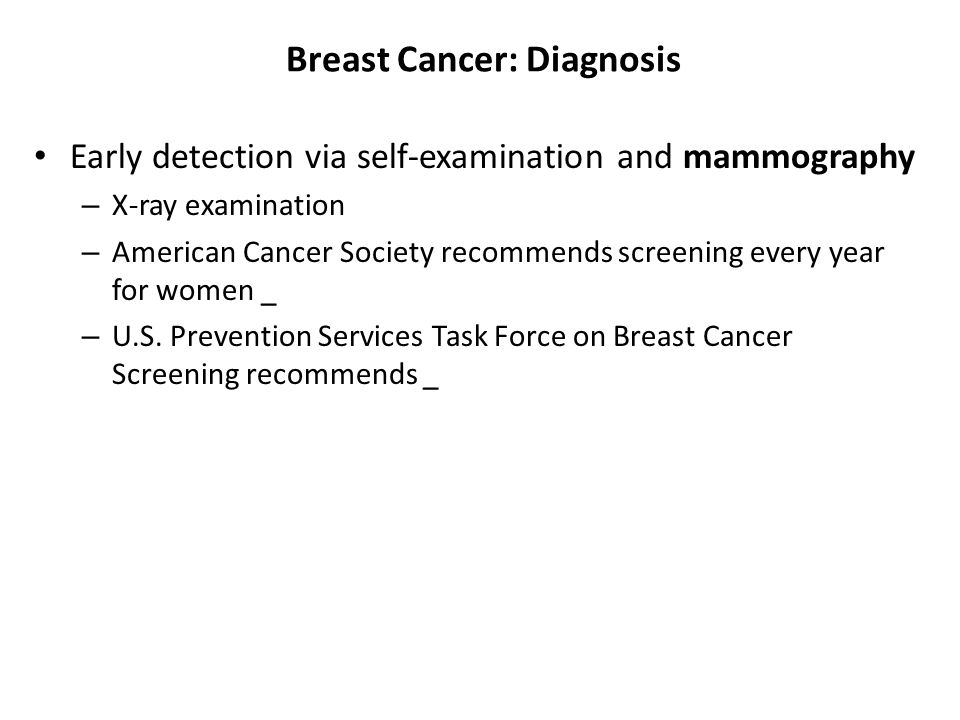 Breast Cancer: Diagnosis