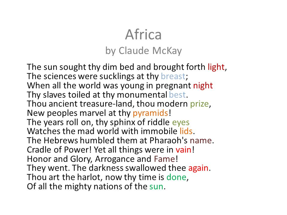 Africa by Claude McKay