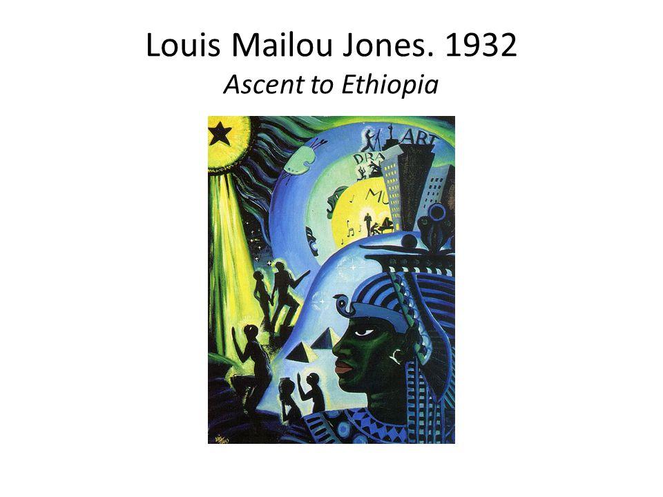 Louis Mailou Jones. 1932 Ascent to Ethiopia
