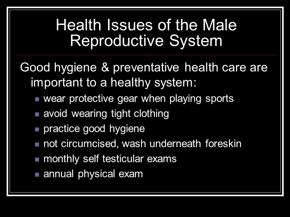 Health Issues of the Male Reproductive System