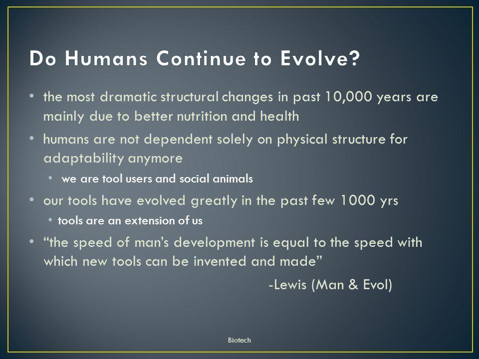 Do Humans Continue to Evolve
