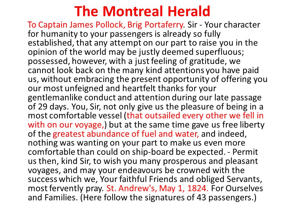 The Montreal Herald