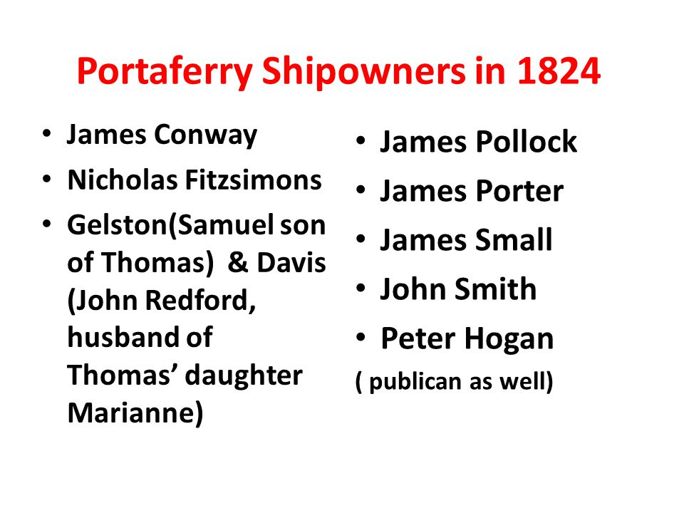 Portaferry Shipowners in 1824