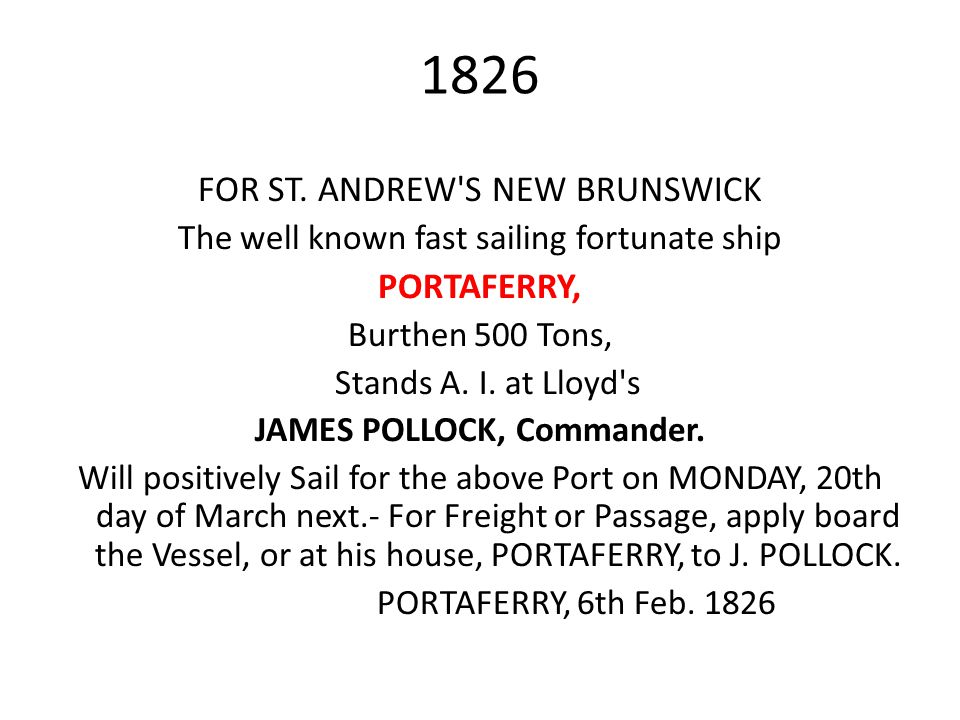 JAMES POLLOCK, Commander.