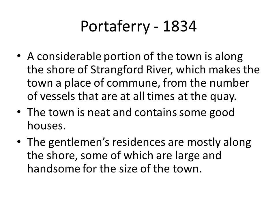 Portaferry - 1834