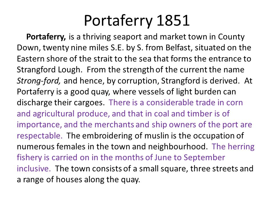 Portaferry 1851