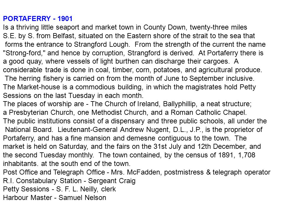 PORTAFERRY - 1901